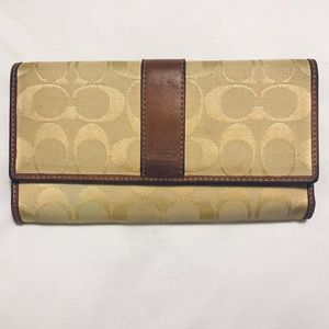 Coach Leather and Cloth C Wallet